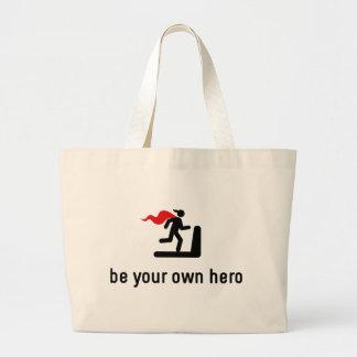 Gym Workout Hero Large Tote Bag