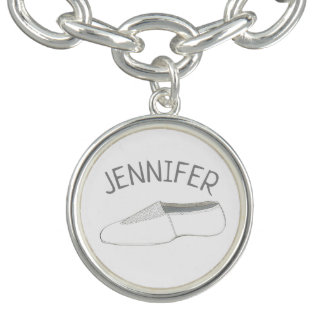 Gymastics Coach Dance Teacher Acro Acrobatics Shoe Charm Bracelet