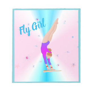 Gymastics - Fly Girl Notebook Notepad
