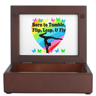 GYMNAST BORN TO TUMBLE AND FLY DESIGN MEMORY BOX