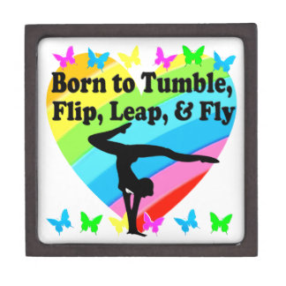 GYMNAST BORN TO TUMBLE AND FLY DESIGN PREMIUM GIFT BOXES
