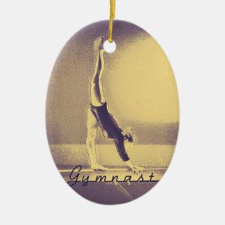 Gymnast Christmas ornament