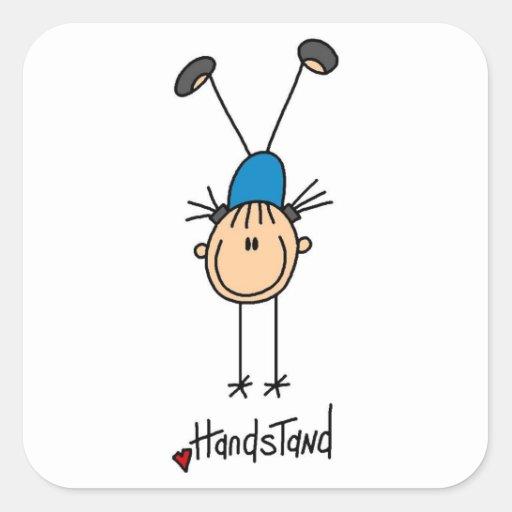 Gymnast Doing Handstands Stickers