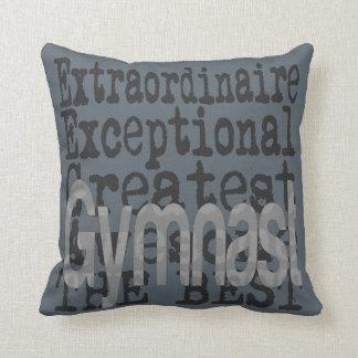 Gymnast Extraordinaire Throw Pillow