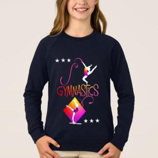 Gymnast Figures Cute Girls Gymnastics Graphic Sweatshirt