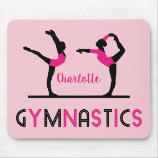 Gymnast Figures Cute Girls Gymnastics Personalized Mouse Pad