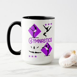 Gymnast Figures Cute Girls Gymnastics Personalized Mug