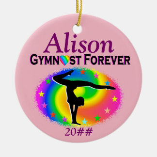 GYMNAST FOREVER PERSONALIZED ORNAMENT