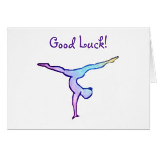 Gymnast Good Luck Card