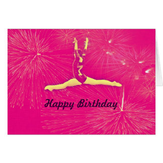 Gymnast Happy Birthday card