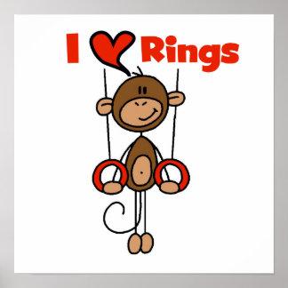 Gymnast Loves Rings Poster