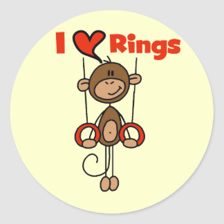 Gymnast Loves Rings Tshirts and Gifts Classic Round Sticker