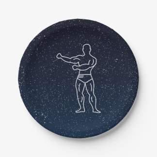 Gymnast Muscles Minimal Paper Plate