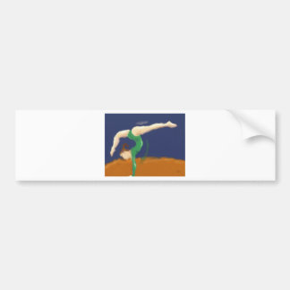 Gymnast on Balance Beam Art Bumper Sticker