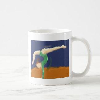 Gymnast on Balance Beam Art Coffee Mug