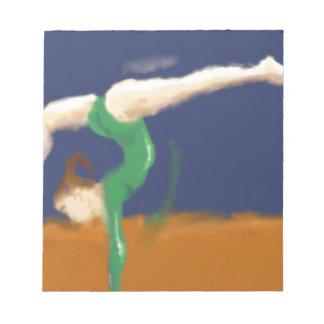 Gymnast on Balance Beam Art Notepads