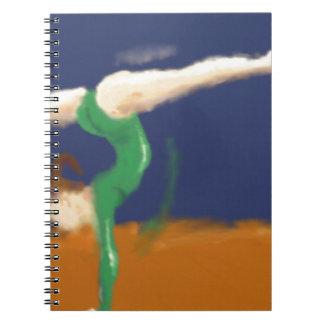Gymnast on Balance Beam Art Spiral Notebook