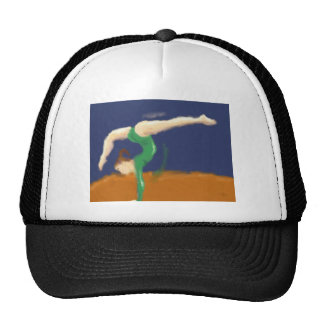 Gymnast on Balance Beam Art Trucker Hat