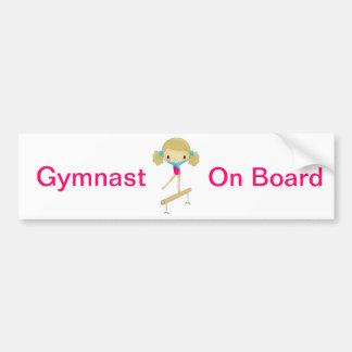 Gymnast on board bumper sticker