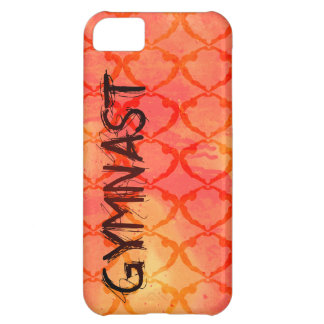 Gymnast Orange Tribal Pattern iPhone Case