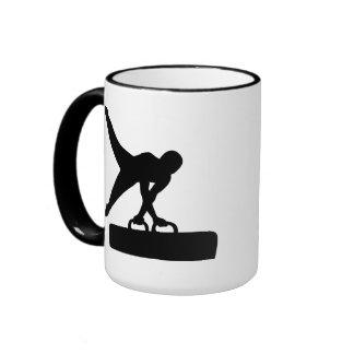 Gymnast pommel horse mugs