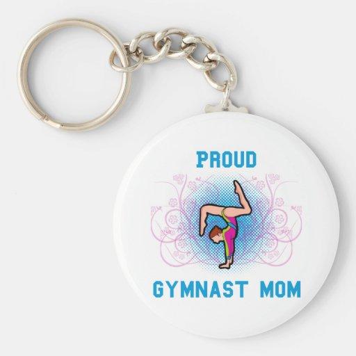 Gymnast Proud Mom Keychains