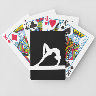 Gymnast Silhouette Playing Cards Black