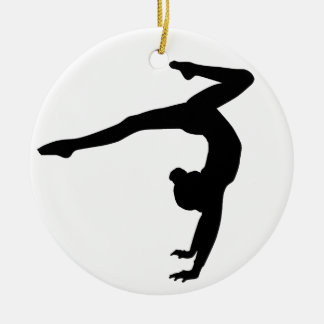 Gymnast Stag Handstand Gifts Ceramic Ornament