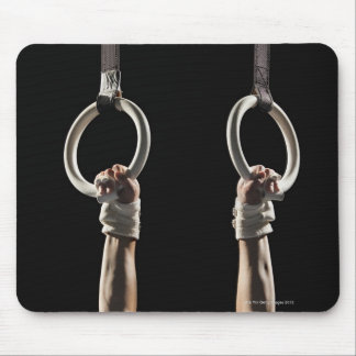 Gymnast swinging from rings 2 mouse pad