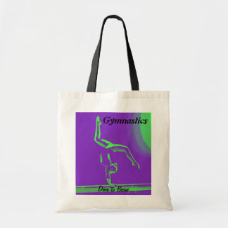 "Gymnast tote bag - ""Dare to Beam"""