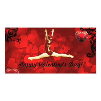 Gymnast Valentine s day photo card