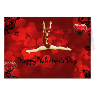 Gymnast Valentine's Day card