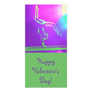 Gymnast Valentine's Day photo card