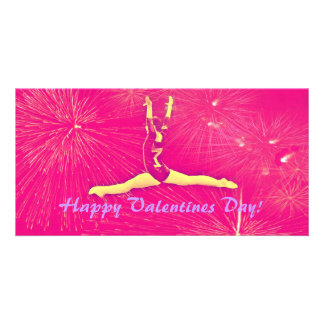 Gymnast Valentines Day Photocard Picture Card