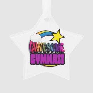 Gymnaste impressionnant d'arc-en-ciel d'étoile