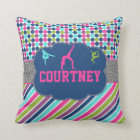 Gymnastic Dance Name Personalized Throw Pillow