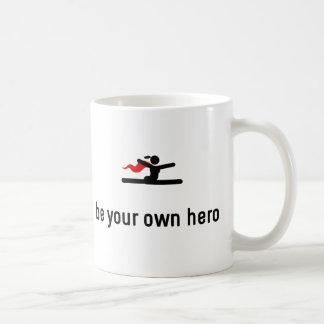 Gymnastic Floor Exercise Hero Basic White Mug