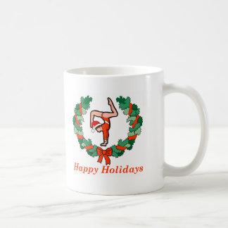 Gymnastic Happy Holidays Wreath Coffee Mug