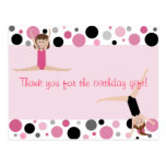 Gymnastic Party Thank You in Pink, Grey & Black