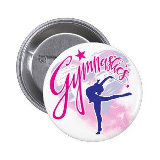 Gymnastics 2 Inch Round Button