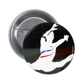gymnastics 2 inch round button