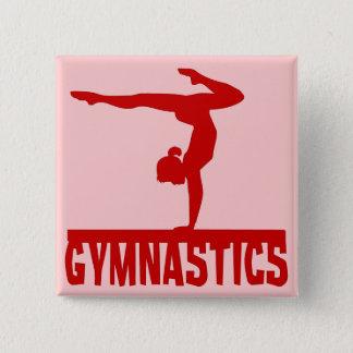 Gymnastics 2 Inch Square Button
