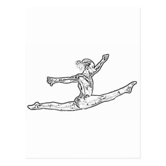 Gymnastics 2 postcard