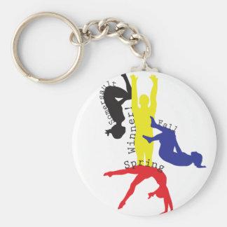 Gymnastics 365 basic round button keychain