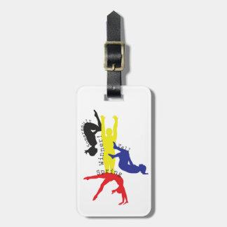 Gymnastics 365 luggage tag