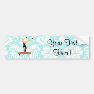 Gymnastics Balance Beam Bumper Sticker