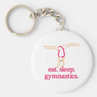 Gymnastics Basic Round Button Keychain