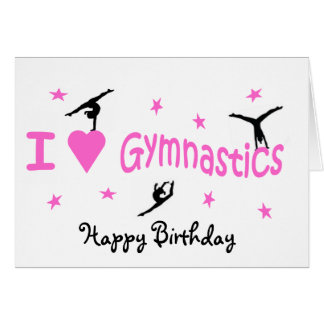 Gymnastics Birthday Card