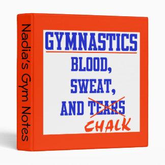 Gymnastics Blood Sweat and Chalk Binder