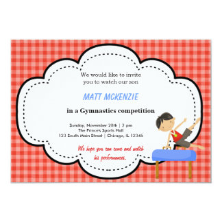 Gymnastics Boy Competition (Red) Invitation